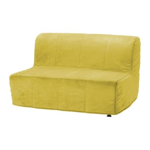 LYCKSELE Two seat sofa bed cover Henån yellow IKEA