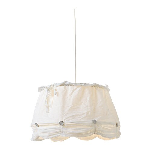 LYRIK Shade IKEA Shade of textile; gives a diffused and decorative light.