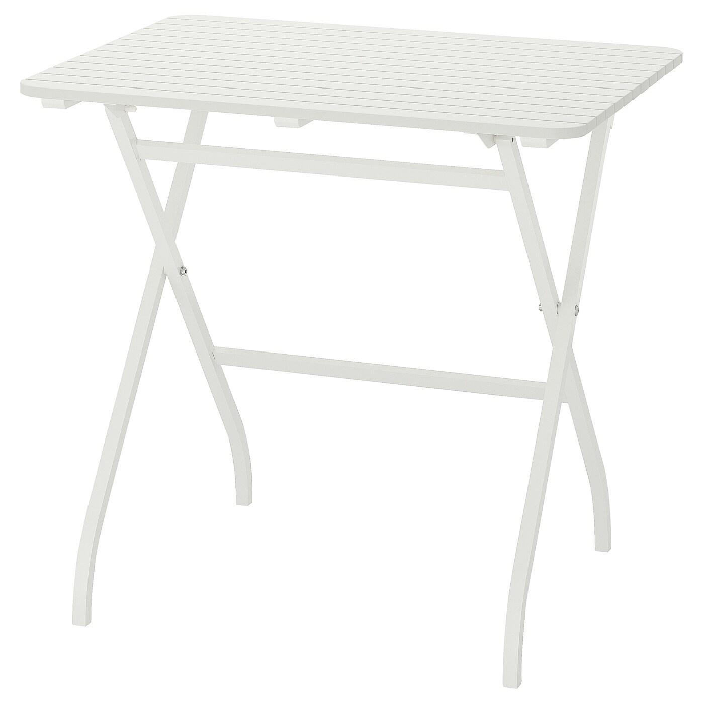 Malaro Table Outdoor Foldable White White 80x62 Cm Ikea
