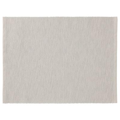 MÄRIT Place mat, grey-beige, 35x45 cm