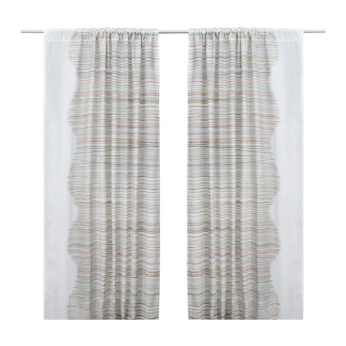 MALIN TRÅD Curtains, 1 pair IKEA The curtains can be used on a curtain rod or KVARTAL curtain track.
