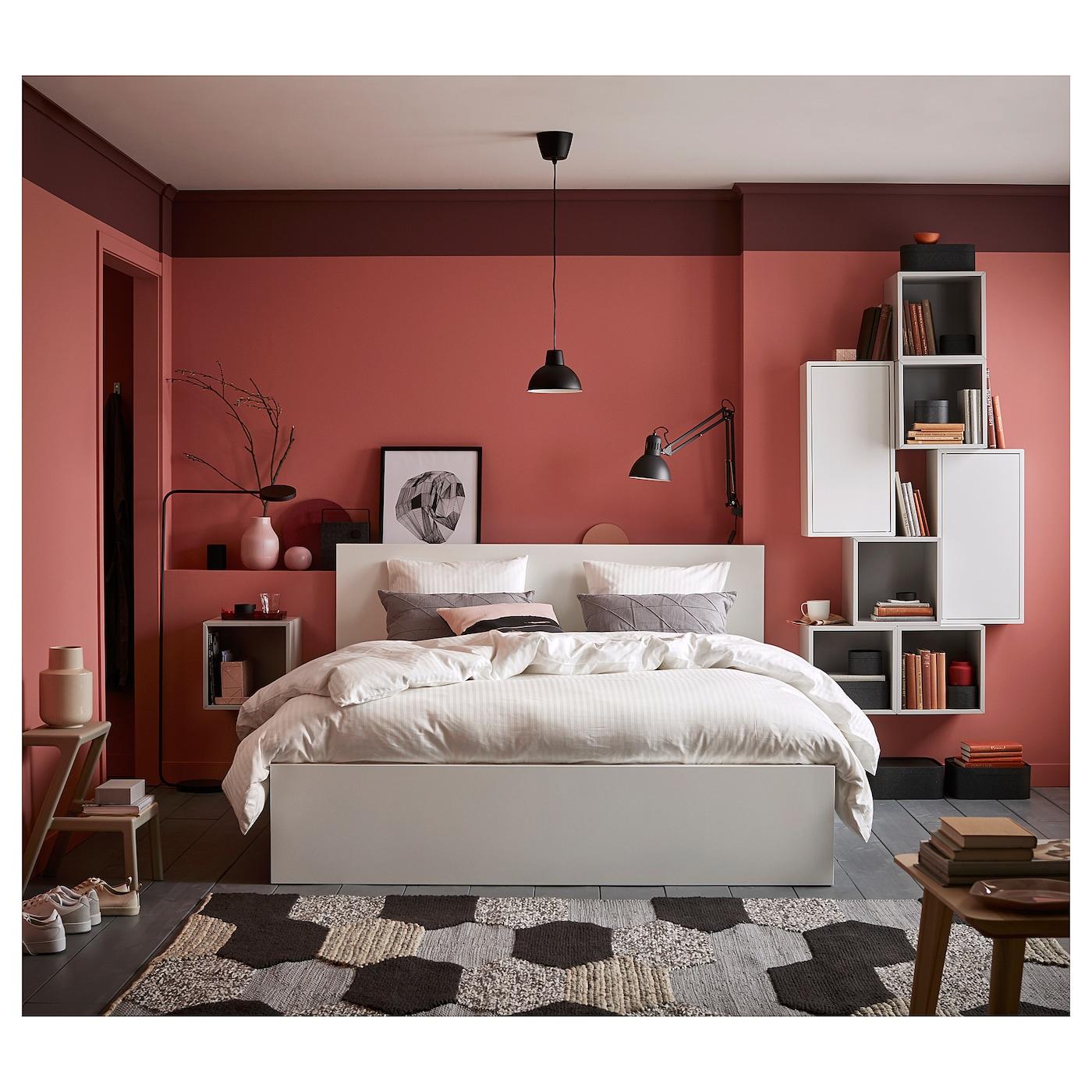 Malm Bed Frame High White Queen Ikea