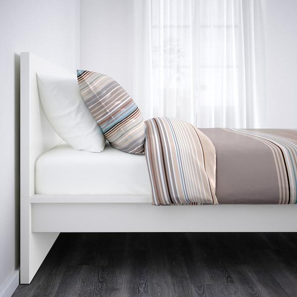 MALM Bed frame, high, white, Single