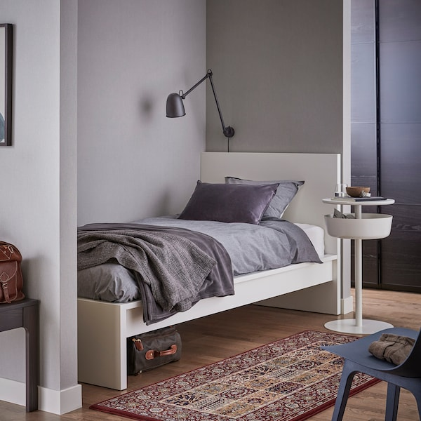 MALM bed frame, high white/Luröy 199 cm 107 cm 38 cm 100 cm 189 cm 92 cm
