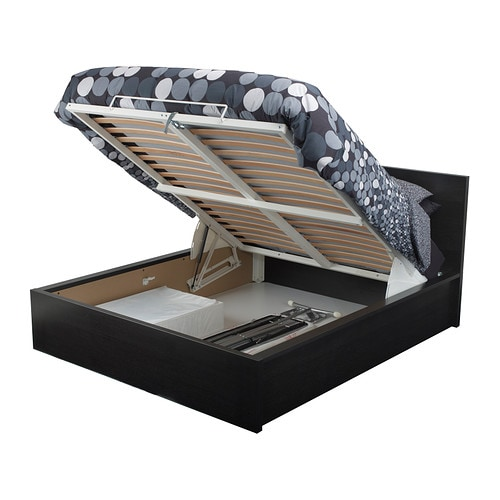 MALM Ottoman bed blackbrown FullDouble IKEA