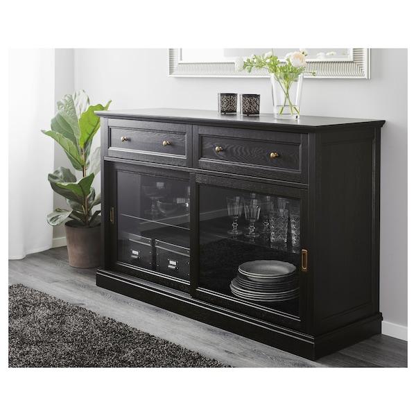 MALSJÖ Sideboard basic unit, black stained, 145x92 cm