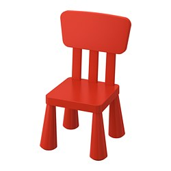 MAMMUT children's chair, in/outdoor, red