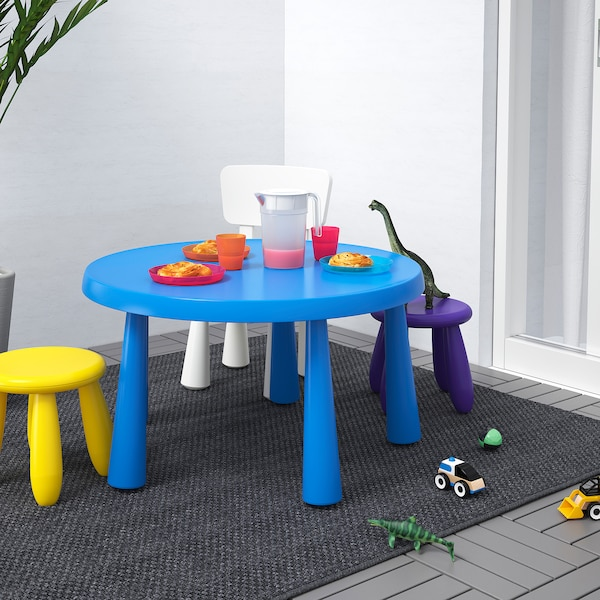 MAMMUT Children's table, in/outdoor blue, 85 cm