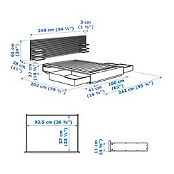 Mandal Bed Frame With Headboard Birch White Birch