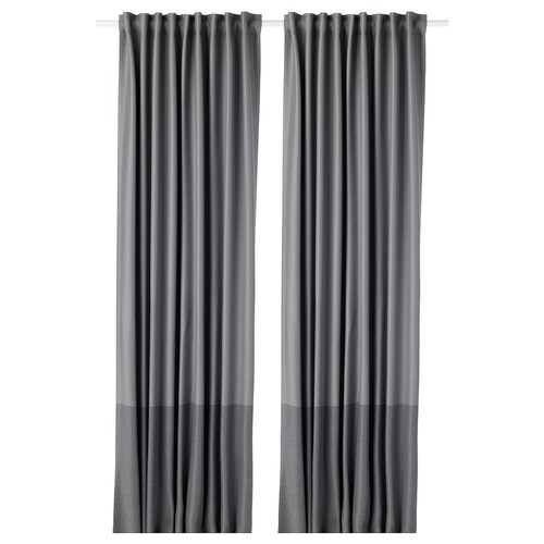 IKEA MARJUN Block-out curtains, 1 pair