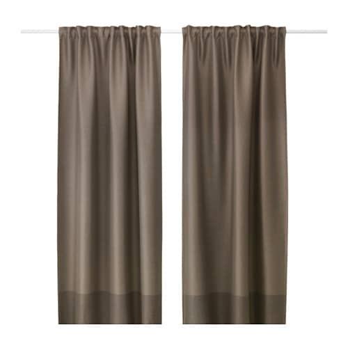 Marjun Block Out Curtains 1 Pair Ikea