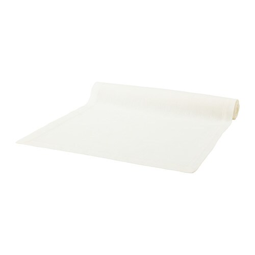 MARKNAD Table-runner IKEA Cotton/linen blend with the softness of cotton and the lustre and firmness of linen.