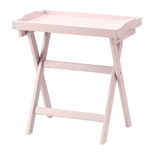 Maryd tray table pink ikea for Ikea green side table