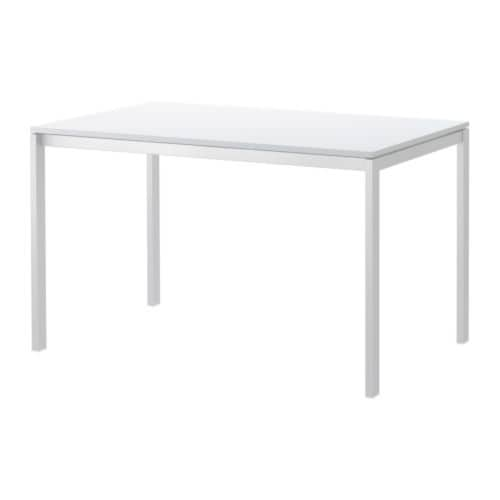 MELLTORP Table IKEA The table top is covered with melamine, a moisture- and scratch-resistant finish that is easy to clean.  Seats 4.