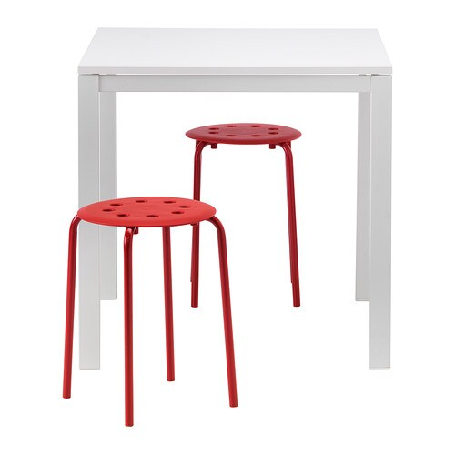 MELLTORP / MARIUS Table and 2 stools IKEA