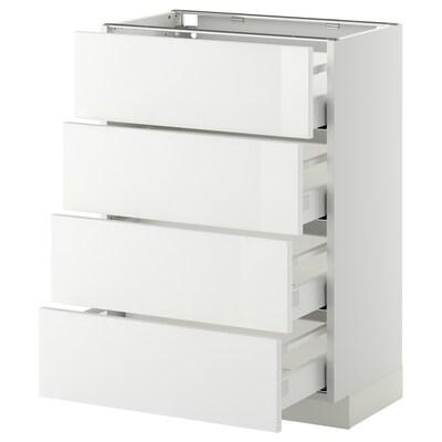 METOD Base cab 4 frnts/4 drawers, white Maximera/Ringhult white, 60x37x80 cm