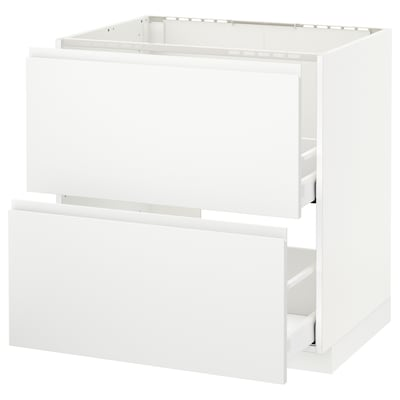 METOD base cab f sink+2 fronts/2 drawers white Maximera/Voxtorp matt white 80.0 cm 62.1 cm 88.0 cm 60.0 cm 80.0 cm