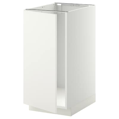 METOD Base cab f sink/waste sorting, white/Häggeby white, 40x60x80 cm