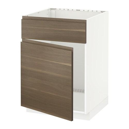 Metod Base Cabinet F Sink W Door Front White Voxtorp