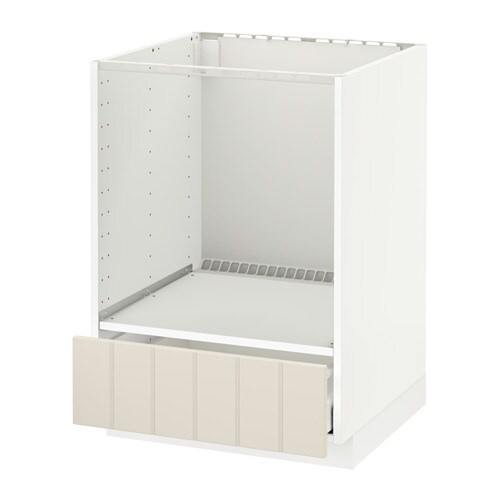 Metod Base Cabinet For Oven With Drawer White Maximera Hittarp Off White