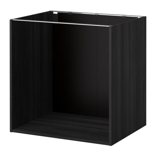 Kitchen Cabinets Frames: Wood Effect Black, 80x60x80 Cm