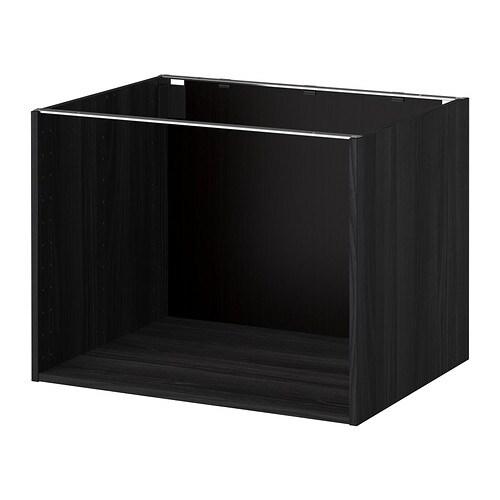 Kitchen Cabinets Frames: Wood Effect Black, 80x60x60 Cm