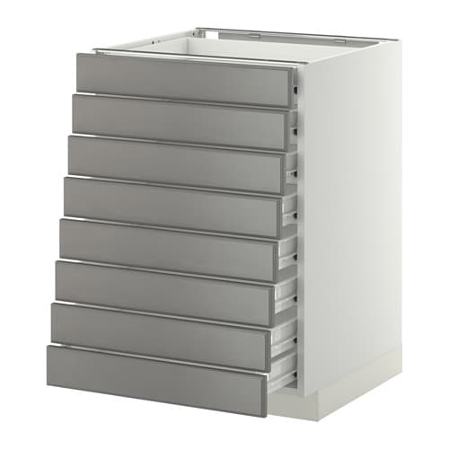Metod Base Cabinet 8 Fronts 8 Low Drawers F Bodbyn