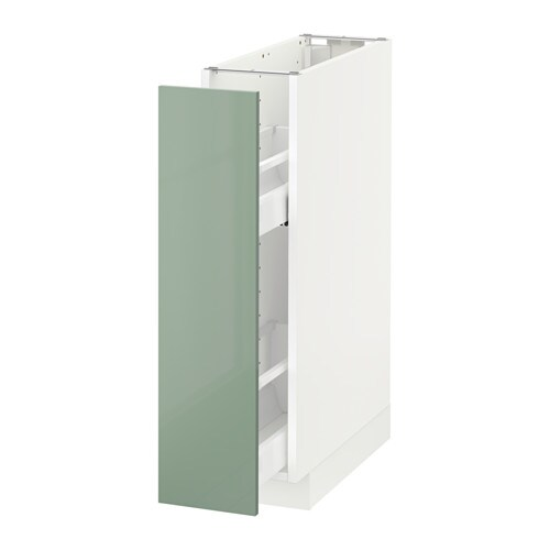Metod base cabinet pull out int fittings white kallarp - Mobile alto e stretto ikea ...