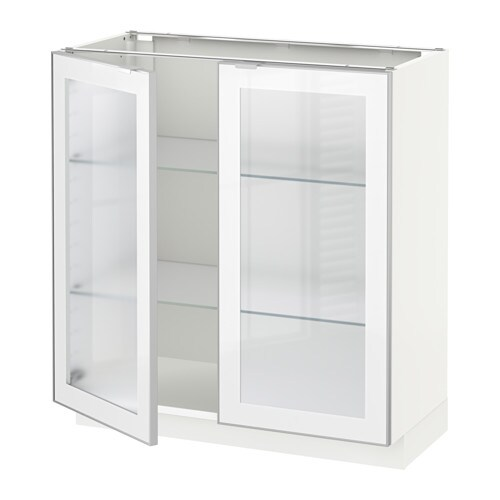Metod base cabinet with 2 glass doors 80x37x80 cm ikea metod base cabinet with 2 glass doors planetlyrics Images
