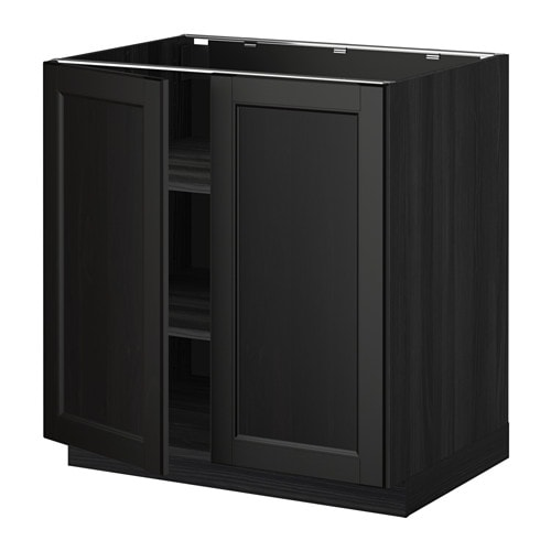 Ikea Caninets: METOD Base Cabinet With Shelves/2 Doors