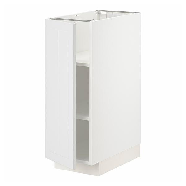 METOD Base cabinet with shelves, white/Stensund white, 30x60x80 cm