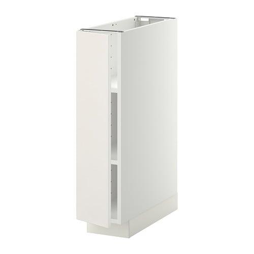 Metod base cabinet with shelves white veddinge white - Meuble de rangement wc ikea ...