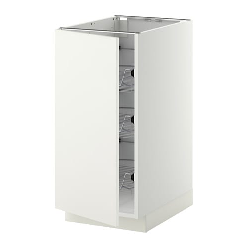cabinet with wire baskets  white, Häggeby white, 40x60x80 cm  IKEA
