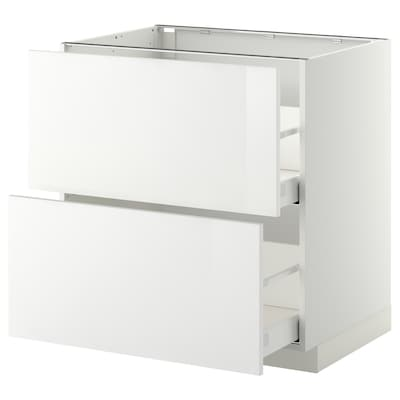 METOD base cb 2 fronts/2 high drawers white Maximera/Ringhult white 80.0 cm 61.8 cm 60.0 cm 80.0 cm