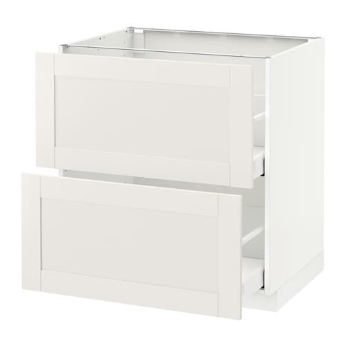 metod base cb 2 fronts 2 high drawers s vedal white 80x60x80 cm ikea. Black Bedroom Furniture Sets. Home Design Ideas