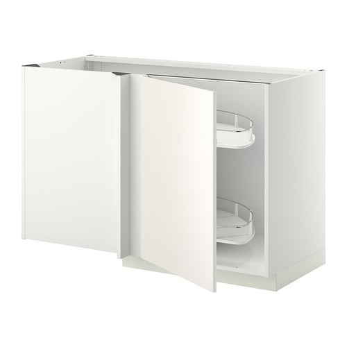 Metod Ikea metod corner base cab w pull out fitting veddinge white 128x68x80
