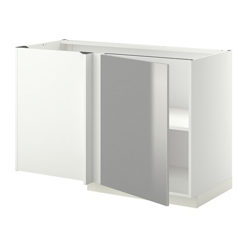 metod corner base cabinet with shelf white grevsta. Black Bedroom Furniture Sets. Home Design Ideas