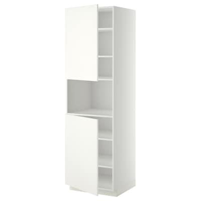 METOD high cab f micro w 2 doors/shelves white/Häggeby white 60.0 cm 61.6 cm 208.0 cm 60.0 cm 200.0 cm