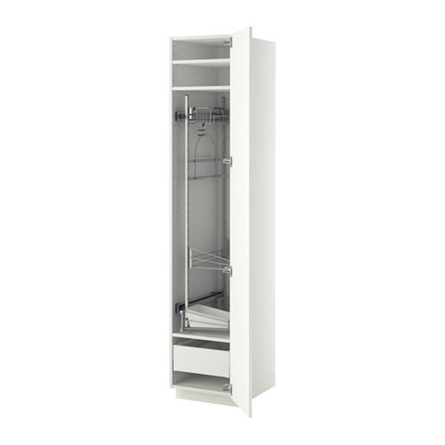Metod High Cabinet With Cleaning Interior Ma H 228 Ggeby