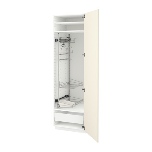 Ikea Off White Rug 2019: METOD High Cabinet With Cleaning Interior