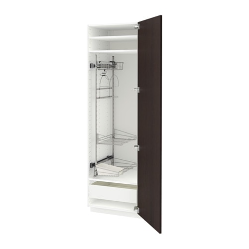 METOD High cabinet with cleaning interior  sc 1 st  Ikea & METOD High cabinet with cleaning interior - Fö Ekestad brown ...