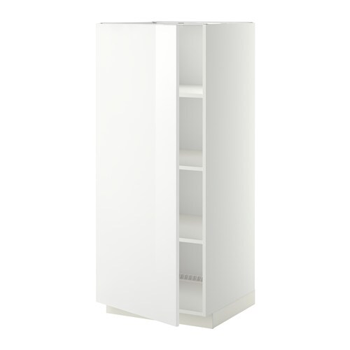 Metod high cabinet with shelves ringhult high gloss white ikea - Ikea mobile dispensa ...