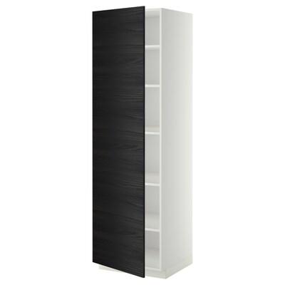 METOD high cabinet with shelves white/Tingsryd black 60.0 cm 61.6 cm 208.0 cm 60.0 cm 200.0 cm