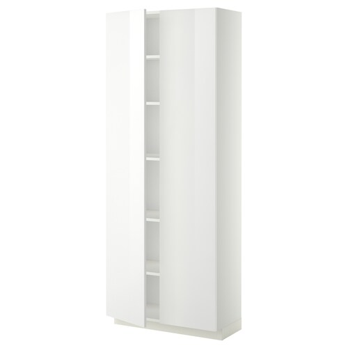 IKEA METOD High cabinet with shelves