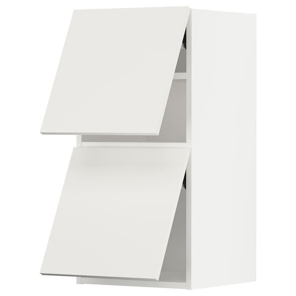 METOD Wall cab horizo 2 doors w push-open, white/Häggeby white, 40x37x80 cm