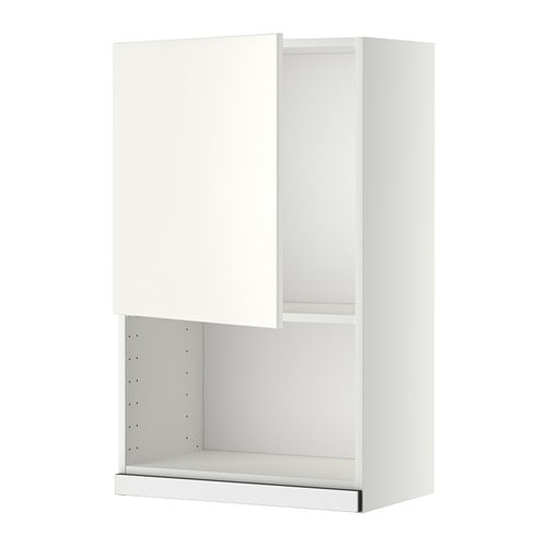 Metod wall cabinet for microwave oven white veddinge for Meuble mural wall