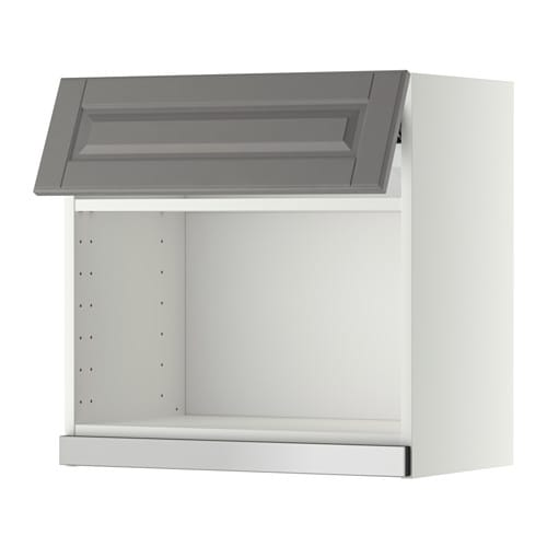 Metod wall cabinet for microwave oven white bodbyn grey for Who makes ikea microwaves