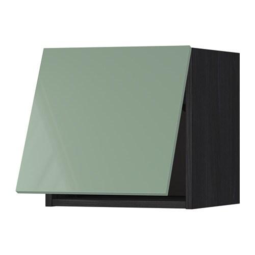 METOD Wall Cabinet Horizontal   White, Ekestad Brown, 80x37x40 Cm   IKEA