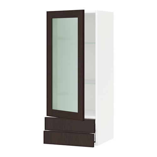 Ikea Wall Kitchen Cabinets: METOD Wall Cabinet W Glass Door/2 Drawers