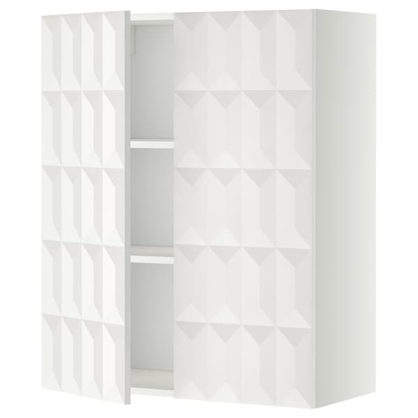Metod Wall Cabinet With Shelves 2 Doors White Herrestad